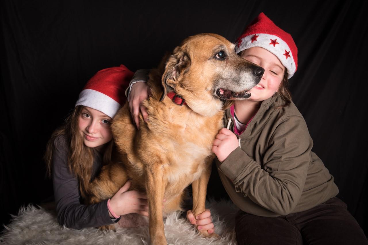 Mes filles et Nala- Noël 2016